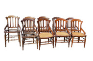 SOLD Set of 9 Victorian Walnut Dining Chairs **REDUCED PRICE**