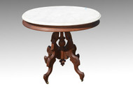 SOLD Victorian Oval Marble Top Table
