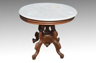 SOLD Antique Victorian Oval Marble Top Table