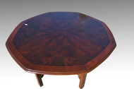 SOLD Octagon Burl Walnut Occasional Table by Drexel