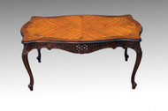 SOLD Vintage French Carved Floral Inlaid Coffee Table