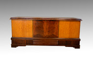 SOLD Art Deco Multi-Veneer Inlaid Cedar Chest by Roos