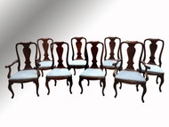 SOLD Set of Eight Chippendale Dining Room Chairs – Twin Arms