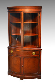 SOLD  Mahogany Corner China Closet by Drexel