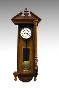 SOLD Vienna Regulator Walnut Wall Clock