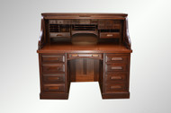 SOLD Antique Victorian Lawyers / Bankers Raised Panel Restored Roll Top Desk *REDUCED PRICE*