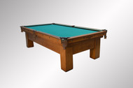 SOLD Antique Brunswick Quarter Sawn Oak Inlaid Pool Billiard Table