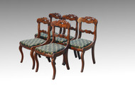 SOLD Antique Set of 5 Flame Mahogany Period Empire Dining Chairs