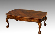 SOLD Mahogany Chippendale Ball and Claw Inlaid Coffee Table