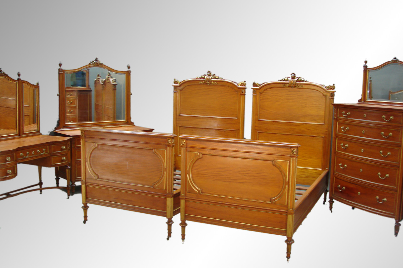 Sold Antique Victorian Twin Beds King Size Bed Nouveau Style