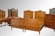 SOLD Antique Victorian Twin Beds/King Size Bed Nouveau Style Bedroom Set
