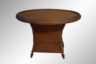 SOLD Round Four Foot Wicker Dining Table