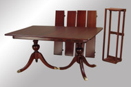 SOLD Mahogany Duncan Phyfe Dining Table w/4 Leaves