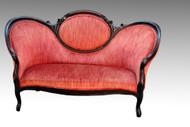 SOLD Antique Victorian Cameo Back Civil War Era Sofa