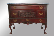 SOLD Antique Mahogany Chippendale Ball and Claw Cedar Chest by Lane