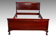 SOLD Mahogany Ball and Claw Chippendale Full Size Bed