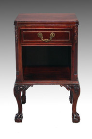 SOLD Mahogany Chippendale Ball and Claw Nightstand
