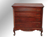 SOLD Antique Mahogany Chippendale Four-drawer Chest
