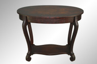 SOLD Antique Oval Oak Library Table