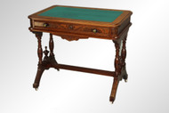 SOLD Antique Victorian Burl Walnut Writing Desk