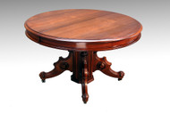 SOLD Antique Victorian Round Walnut Banquet Table