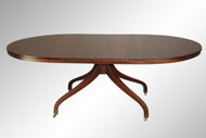 SOLD Oval Mahogany Unusual Dining Table with 2 Leaves