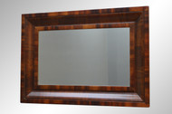 SOLD Antique Period Flame Mahogany Ogee Mirror