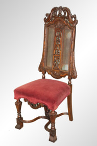 SOLD Antique Unusual Carved Walnut King's Chair