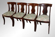 SOLD Antique Set of Four Period Empire Dining Chairs