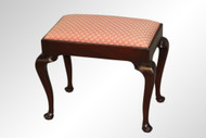 SOLD Antique Mahogany Queen Anne Footstool