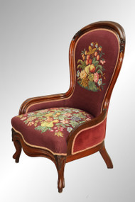 SOLD Antique Victorian Needlepoint Lady's Chair