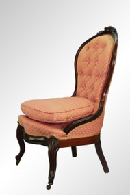 SOLD Antique Victorian Walnut Lady's Carved Parlor Chair