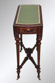 SOLD Antique Rare and Scarce Victorian Drop Leaf Table by Cutler of New York