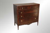 SOLD Burl Walnut Gent's Chest- French Style