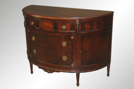 SOLD Burl Walnut Demi Lune French Chest