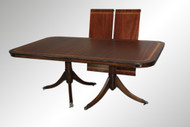SOLD Mahogany Banded Dining table-Duncan Phyfe