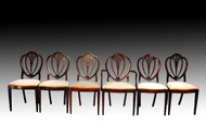 SOLD Set of 6 Duncan Phyfe Shield Back Dining Chairs