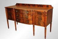 SOLD Antique Flame Mahogany Custom Sheraton Sideboard