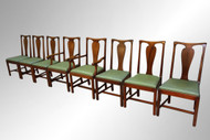 SOLD Antique Set of 8 Solid Mahogany Dining Chairs