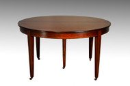 SOLD Beautiful 54 inch Mahogany Dining Table w/4 Leaves