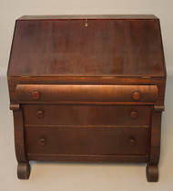 SOLD Mahogany Empire Slant Top Desk- Shabby Chic?