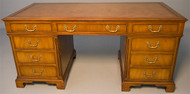 SOLD Antique Kittinger Mahogany Flat Top Executive Desk
