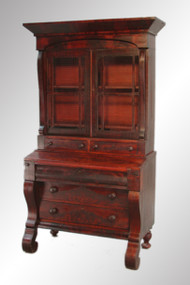 SOLD Antique Period Empire Flame Mahogany Secretary Desk
