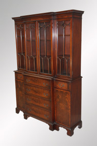 SOLD Antique Mahogany Butler's Desk/Bookcase By Charak