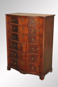 SOLD Antique Flame Mahogany Tall Chest – Extra Quality!