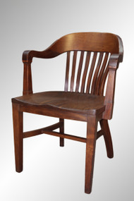 SOLD Antique Walnut Mahogany Bankers Chair