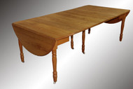 SOLD Antique Country Oak Victorian Banquet Table, Over 9 feet Long