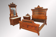 SOLD Antique Three-piece Victorian Marble Top Bedroom Set – Unique