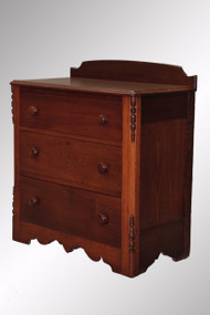 SOLD Antique Victorian Country Walnut Gentleman's Chest