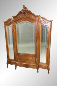 SOLD Antique French Victorian Three-door Wardrobe *REDUCED PRICE*